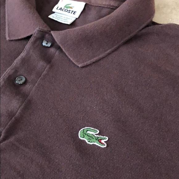 Men's Lacoste Polo Shirt Size 9 (XXL) Brown